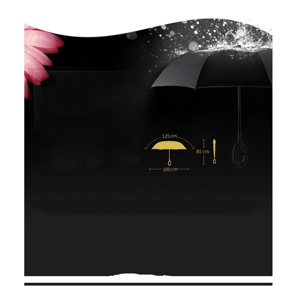 TtKj Folding Umbrella Reverse Double-Layered Hands-Free Creative Sun Visor Long Handle Umbrella 81105125cm