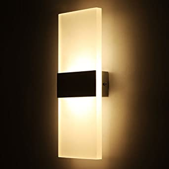 Outreo Modern Acrylic 6W LED Wall Sconces Light Lamp Decorative Light  Fixture For Bedroom, Living