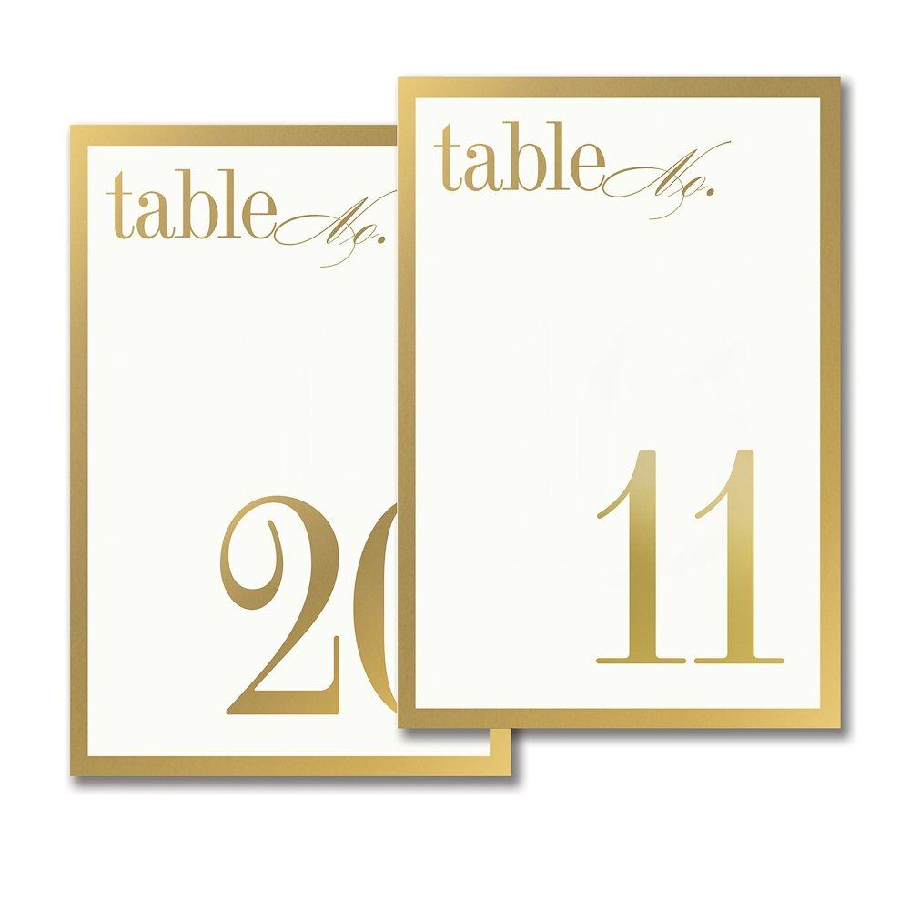 Vera Wang 11-20 Gold Bordered Table Cards