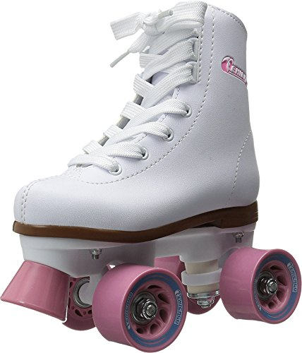 Chicago Girl's Classic Roller Skates – White Rink Skates...