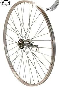 """Roland - Rueda trasera de aluminio para bicicleta (29"""", freno de pedal), color plateado"""