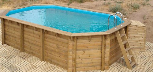 pool im garten holz m belideen. Black Bedroom Furniture Sets. Home Design Ideas