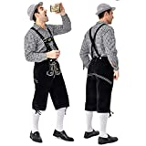 Kelove Men's German Bavarian Oktoberfest Classic Costume for Carnival,German Beer Festival Costume