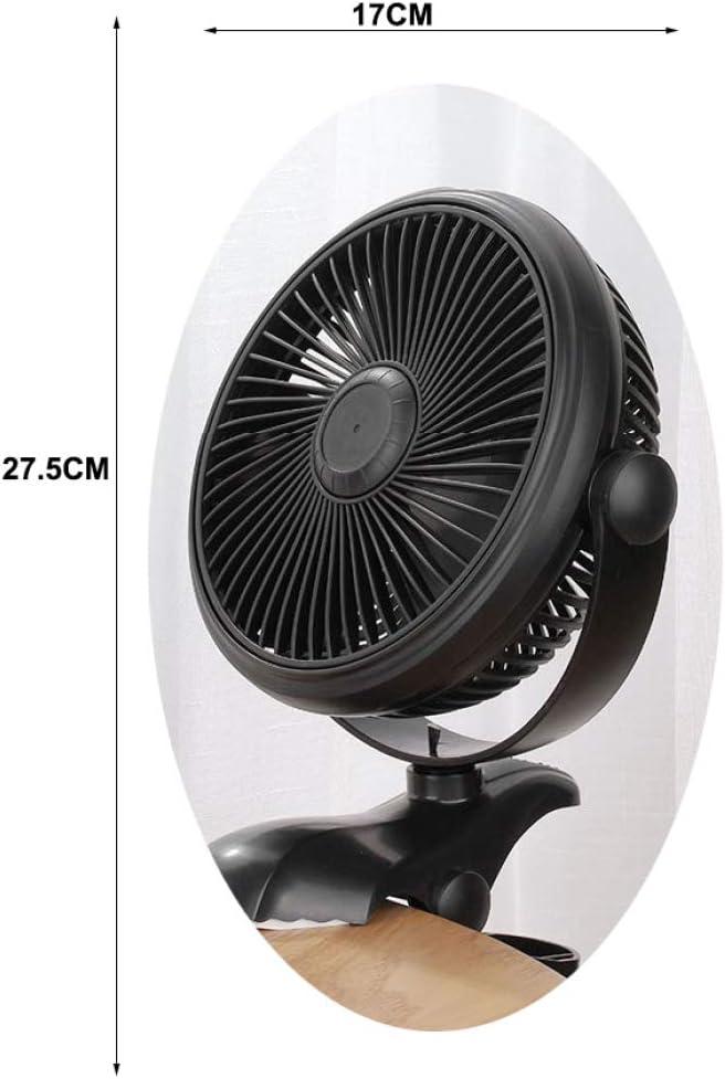 ZL9 Pequeño Ventilador Mini USB Clip Colgante Pequeño eléctrico Fam Ventilador de Mesa de ángulo Ajustable de 360 ¡ã Adecuado para la Oficina Interior del Dormitorio al Aire Libre/Negro / 17 *