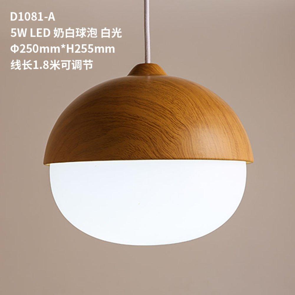 Nordic Lamp 1 light Woodgrain nut chandelier Lighting top mounted hanging Restaurant chandelier Led chandeliers Bedroom [kids room]-B 2526cm