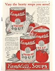 Vary the Hearty Campbell's Vegetable Beef Soup ad 1925