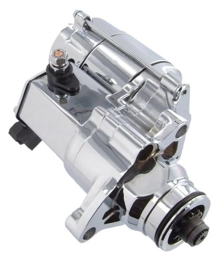 Chrome Harley Starter - New Discount Starter and Alternator 18905NC Starter For Harley Davidson 31621-06 Year Models (2007-2013) Chrome Version