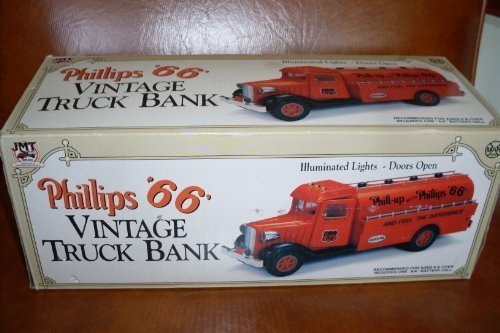 Phillips '66' Vintage Truck Bank (1993) Illuminated Lights-Doors Open