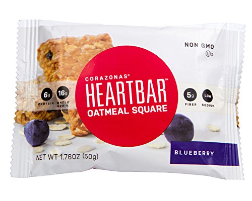 Heartbar Oatmeal Square, Blueberry, 1.76 Ounce, 12 Count