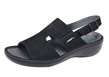 Abeba 6872 39 Reflexor Comfort Chaussures sandale Taille Noir