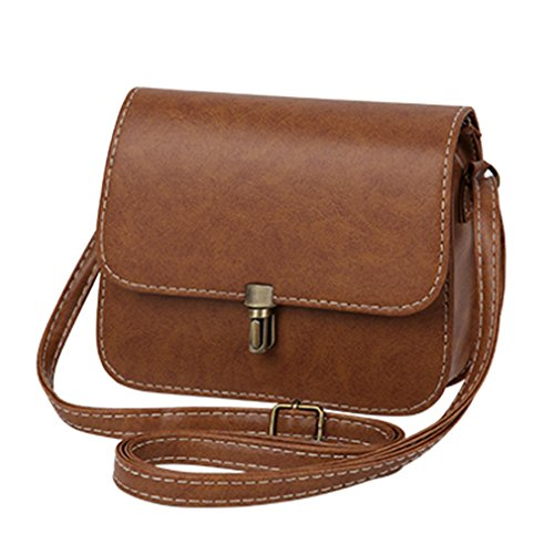 - ANANXILA Mini Handbag Shoulder Bag Women Satchel Shopping Purse Crossbody Bags Khaki 15cmx19cmx6cm