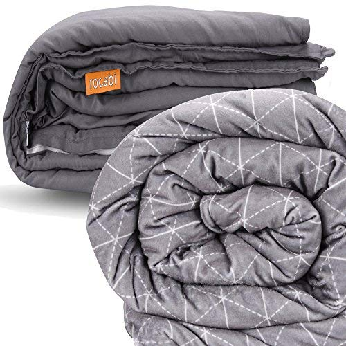 25 lbs | Premium Weighted Blanket For Adults by rocabi | 60 x 80' | Removable...