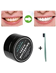 Matoen 1PC Teeth Whitening Powder Natural Organic Activated Charcoal Bamboo Toothpaste