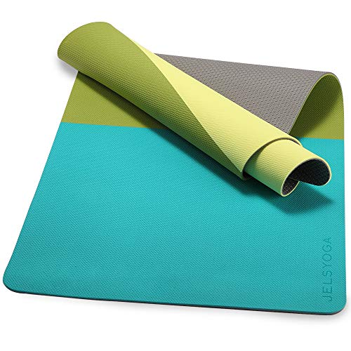 TENOL JELS Yoga Mat Non Slip,Dual-Color Eco Friendly Yoga Mat Thick Exercise & Workout Mat with Free Carry Strap for Yoga, Pilates and Fitness(72