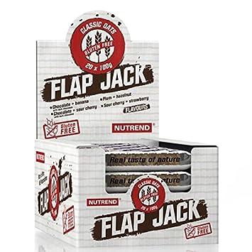 Nutrend Flapjack barra de la proteína NUTS AVENA SIN GLUTEN Origanum vulgare, Extracto de alto contenido de fibra, tocoferoles naturales cereza amarga y ...