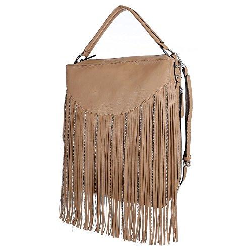 Ital-DesignSchultertasche bei Ital-Design - Bolso de hombro Mujer Marrón - marrón claro