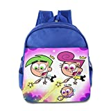 Toddler Kids The Fairly Oddparents School Backpack Style Children School Bags RoyalBlue