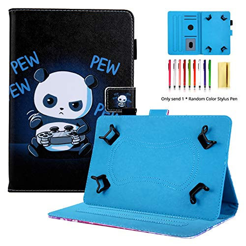 LittleMax 7 Inch Universal Tablet iPad Case,PU Leather Standing Shell Folio Flip Protective Case Magnetic Closure Cover for All 7 Inch Tablets -06 Pew Panda