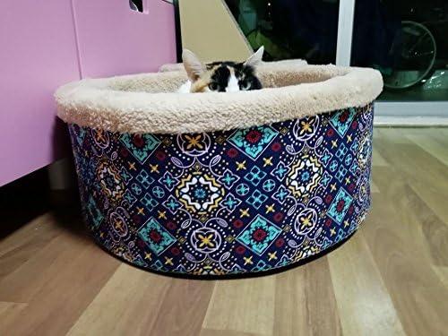 Arenero para gatos lavable de esponja, nido Invierno para perros de talla pequeña, arenero para animales domésticos, saco de dormir para gatos, ...