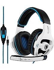 Gaming Kopfhörer für PS4 PC, SADES SA810 Gaming Headset Über das Ohr Kopfhörer mit Mikrofon