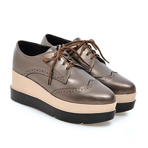 Loafers SDC03742 No Womens AdeeSu Urethane Shoes Gray Toe Pointed Urethane Closure Platform qwpFwS18