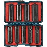 Bosch 27286 1/2-Inch Deep Well Socket Set, 9-Piece