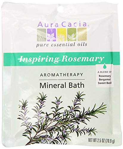 Inspiration Aromatherapy Mineral Bath (Aura Cacia Aromatherapy Mineral Bath, Inspiring Rosemary, 2.5 ounce packet (Pack of 3))