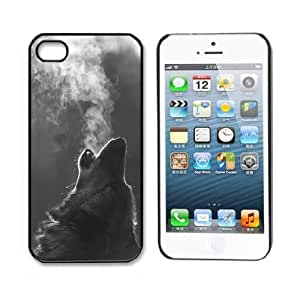 SunshineCase(TM) Unique! Cool Wolf Hipster Print Hard Back Case Cover Cool Design Snap on Case For Apple iphone 5 5S