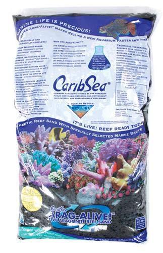 (Carib Sea ACS00797 Arag Alive Hawaiian Reef for Aquarium, 20 Pound, Black, 2 Pack)