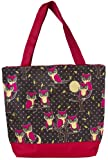 J Garden Canvas Tote Bag 16-inch (Red Owl)