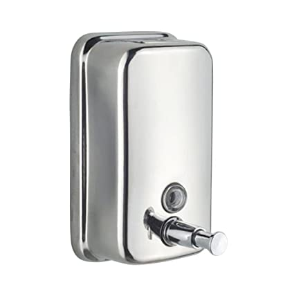 YUPECO Wall Mounted Soap Shampoo Chrome Finish Square Liquid Soap Bottle Bathroom Accessories Hand Detergent Dispensador