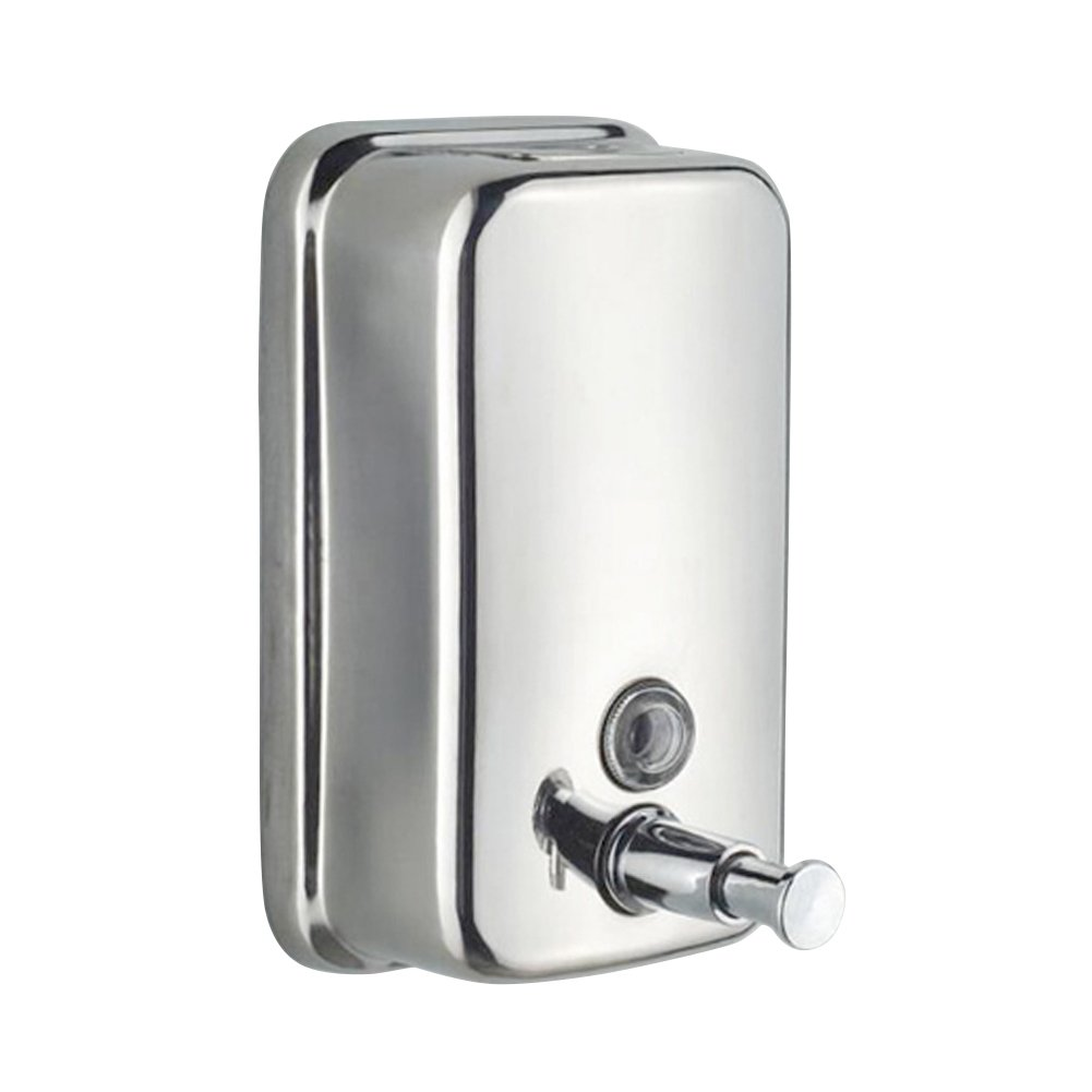 YUPECO Wall Mounted Soap Shampoo Chrome Finish Square Liquid Soap Bottle Bathroom Accessories Hand Detergent Dispensador Pum