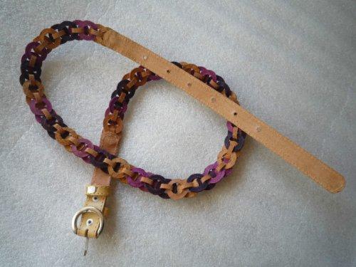 primo qualità cm 97 pelle viola Cintura foro alta beige in di per 83 donna g4vaIa7qwx