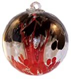 Spirit Tree Witch Ball ''Krakatoa'' by Iron Art Glass Designs