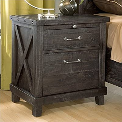 Modus Furniture 7YC981 Yosemite Solid Wood Nightstand, Cafe - Pull-out tray provides additional surface area when needed Drawer boxes feature English dovetail joinery and full extension, ball bearing drawer slides Can be used with or without 3 3/8 inch legs; simple 5 minute assembly procedure to install legs if desired - bedroom-furniture, nightstands, bedroom - 51ifhC5B1xL. SS400  -