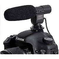SG-108 Camera Shotgun DV Stereo Microphone for Canon EOS Rebel T5i T4i T3i T2i 700D 600D 550D 70D 60D 6D 5D Mark III Nikon D800 D600 D3200 D5200 D7000 D7100 Pentax K-5 K-7 K10 K20 K100 K200 Contax 645, N1, NX, N Digital SLR Camera
