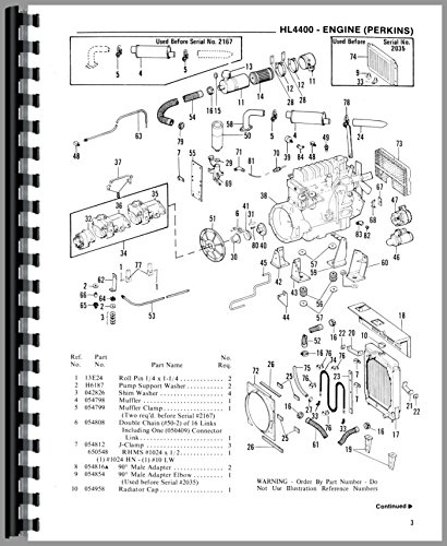 Amazon Com Gehl Hl4400 Skid Steer Loader Parts Manual Office Products