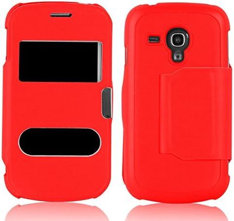 Galaxy S3 Mini Case Window Flip Cover For Samsung Galaxy S3 Mini Red Amazon Ca Cell Phones Accessories