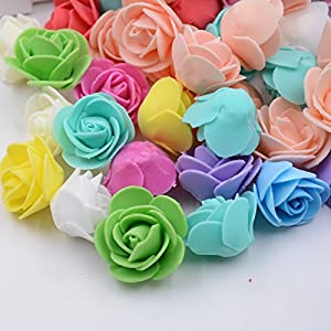 Artificial Flower Roses Wedding Decoration Party Decorative Festive Decoration Home Decoration Mini Foam Rose 150PCS 71