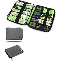 BUBM Organizador de cables universal Electronics Accesorios Caso USB Drive Shuttle/healthcare & Grooming Kit, Gris