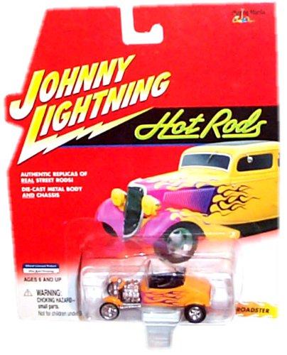 Johnny Lightning - Hot Rods - 1927 T-Roadster (Orange color w/purple flames)