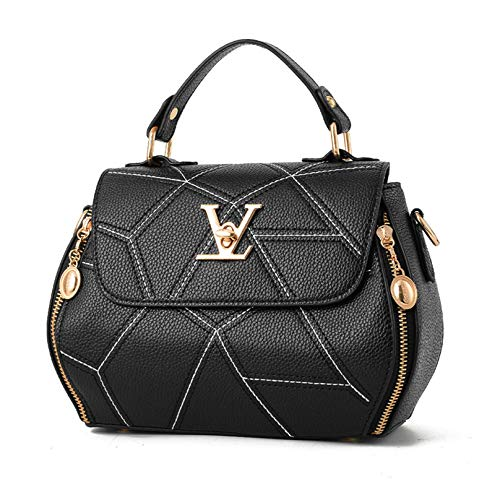 VG Women Geometry V Style Handbag Black Luxury Shoulder Bag Crossbody Bag
