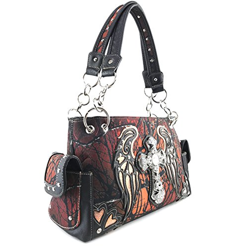Only Concealed Carry Tree Purse Wing Handbag West Orange Cross Handbag Camouflage Rhinestone Shoulder Angel Justin Bling AvTR7ZWzqz