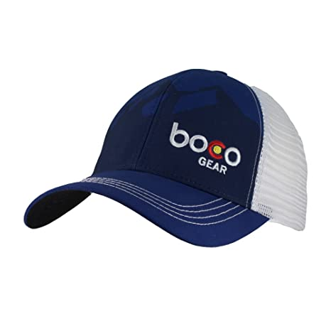 09807751f3a Amazon.com: BOCO Gear Technical Trucker® Hat - Navy Mountains: Sports &  Outdoors
