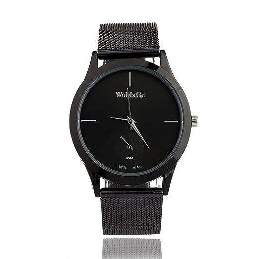 Modaworld Relojes de Moda Relojes Deportivos Hombre Mujer Reloj de aleación de Moda Reloj de Cuarzo Estilo Minimalista Unisex Cinturón Relojes Mujer ...