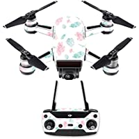 Skin for DJI Spark Mini Drone Combo - Paper Flowers| MightySkins Protective, Durable, and Unique Vinyl Decal wrap cover | Easy To Apply, Remove, and Change Styles | Made in the USA