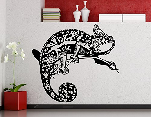 Mural Lizards - Chameleon Wall Decal Reptile Lizard Vinyl Sticker Home Kids Room Interior Art Decoration Any Room Mural Waterproof Vinyl Sticker (467xx)