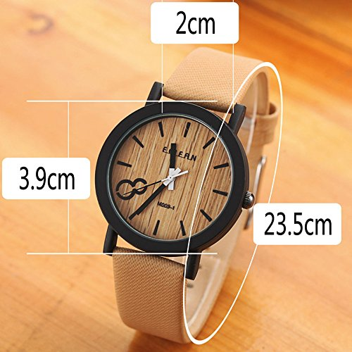 Amazon.com : New Simulation Wooden Relojes Quartz Men Watches Casual Wooden Color Leather Strap Watch Wood Male Wristwatch Relogio Masculino : Baby