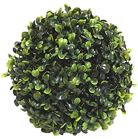 FOURWALLS Artificial Topiary (17cm, Green) Artificial Plants at amazon