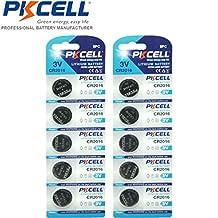 PKCELL 10 Pack 3V 2016 CR2016 DL2016 ECR2016 Lithium 3V Batteries